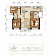 仁恒滨海半岛3室2厅2卫126平方米户型图