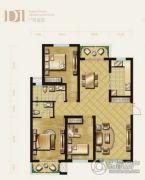 盛泽伯爵山3室2厅2卫126平方米户型图