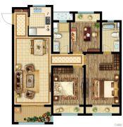 公元壹号3室2厅2卫109平方米户型图