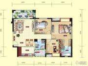 民福旌城天际3室2厅2卫113平方米户型图