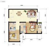 山海城邦・马街摩尔城2室2厅1卫92平方米户型图