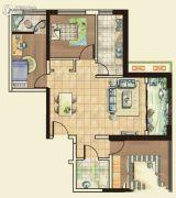 城关江南明珠3室2厅1卫103平方米户型图