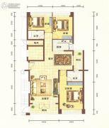 平安里3室2厅2卫137平方米户型图