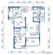 半山�庭3室2厅2卫106平方米户型图
