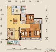 领地・海纳君庭3室2厅2卫108平方米户型图