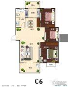 汇仙湖・金水湾3室2厅1卫115平方米户型图