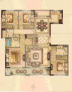 华鸿・瑞安府4室2厅3卫162平方米户型图