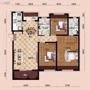 宝能水岸康城3室2厅2卫108平方米户型图