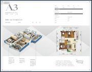 中泽和都3室2厅2卫109平方米户型图
