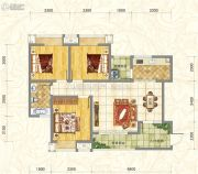 世俊国际3室2厅1卫96平方米户型图