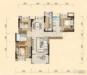 均瑶・御景天地3室2厅2卫119平方米户型图