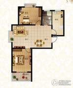 北城国际2室2厅1卫95平方米户型图