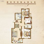 �锦世家3室2厅1卫95平方米户型图