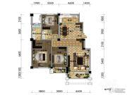 观山悦公馆3室2厅2卫149平方米户型图