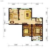 东都国际3室2厅1卫95--96平方米户型图