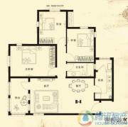 思念果岭国际社区3室2厅1卫115平方米户型图
