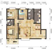 双语雅苑3室2厅2卫90--102平方米户型图