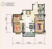 幸福汇3室2厅2卫115平方米户型图