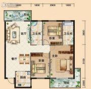 鸿发・东门华府3室2厅2卫114平方米户型图