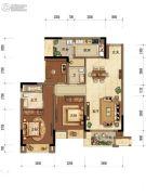 中海阅江阁2室2厅1卫87平方米户型图