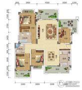 宏信依山郡3期4室2厅2卫146平方米户型图