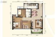 信和御龙山3室2厅1卫88平方米户型图