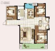 永威城3室2厅2卫133平方米户型图