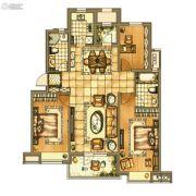 银亿格兰郡3室2厅2卫130平方米户型图