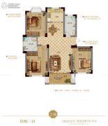 花园半岛 高层3室2厅2卫115平方米户型图