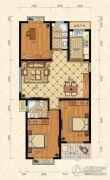 城南春天3室2厅2卫124平方米户型图