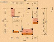 建泓�Z园2室2厅1卫87--88平方米户型图