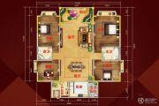 柏隆国际公馆4室2厅2卫0平方米户型图