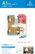 阳光壹号公馆3室2厅1卫79346平方米户型图