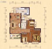 恒大御府3室2厅1卫103平方米户型图