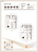 思朗广场3室2厅2卫0平方米户型图