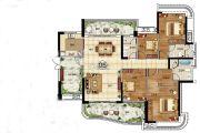 悦盈新城4室2厅2卫171平方米户型图