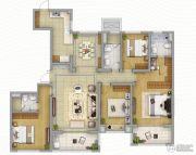 海峡城4室2厅3卫180平方米户型图