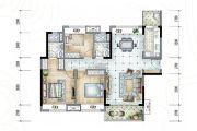 保利香槟国际3室2厅2卫111平方米户型图