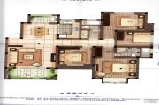 橡树城4室2厅2卫141平方米户型图