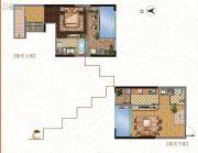 中铁逸都1室1厅2卫66平方米户型图