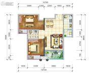 阳光西雅图2室2厅1卫85平方米户型图
