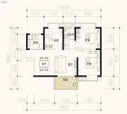 保利天禧2室2厅1卫93平方米户型图