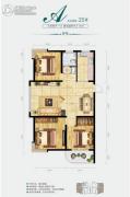中央绿城3室2厅1卫116平方米户型图