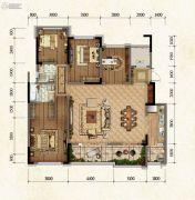 国博城4室2厅2卫122平方米户型图