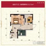 长禹星港湾1室1厅1卫0平方米户型图
