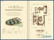金梦海湾1号2室2厅1卫113--117平方米户型图