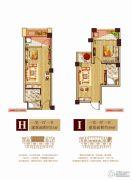 中大城1室1厅1卫34--40平方米户型图