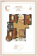 御江景城3室2厅2卫121平方米户型图