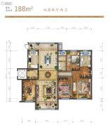 远洋荣域4室2厅2卫188平方米户型图