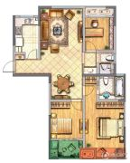 金新御园3室2厅2卫118平方米户型图